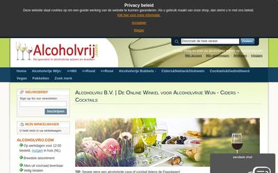 Alcoholvrij.com website