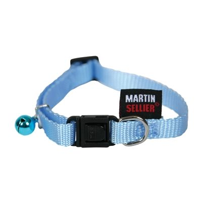 Martin sellier Kattenhalsband Nylon Uni Blauw