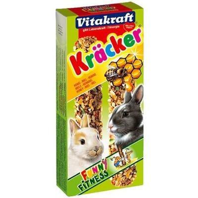 Vitakraft Dwergkonijn Kracker Honing 2 In 1