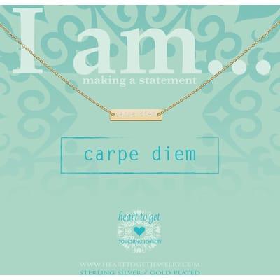 Heart to Carpe get diem zilver