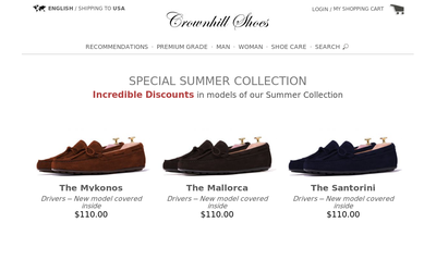 Crownhill Shoes website