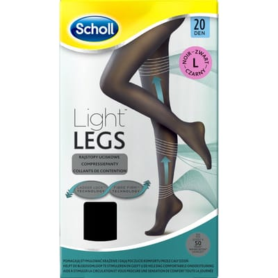 Scholl Light Legs 20 Denier Panty Maat L Zwart