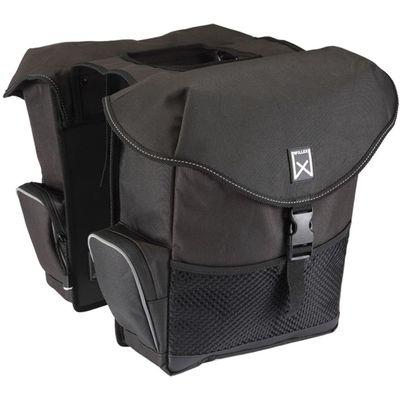 Willex XL Dubbele Fietstas 34 l Zwart
