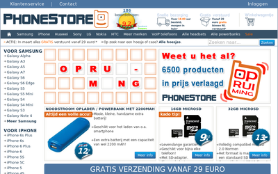 Phonestore.nl website