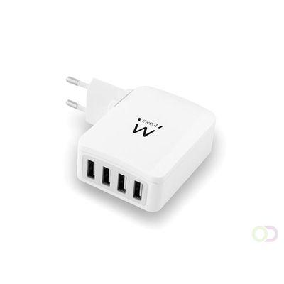 EWENT - 4-POORTS SMART USB-LADER - 5.4 A
