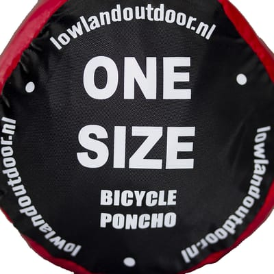 LOWLAND Fietsponcho One size Rood