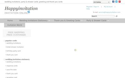 happyinvitation.com website