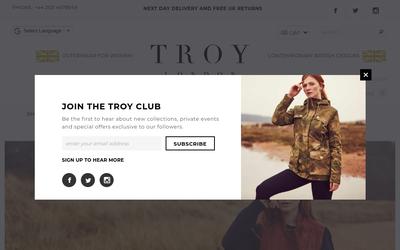 TROY London website
