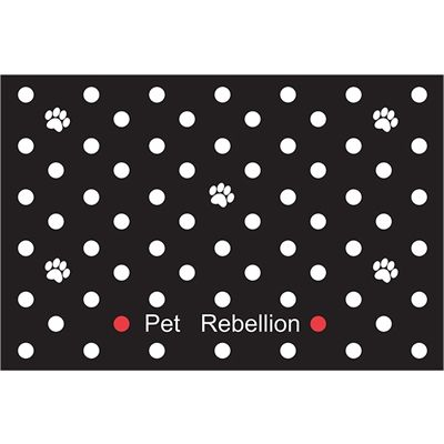 Pet rebellion deurmat dotty zwart
