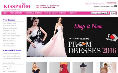 kissprom.co.uk website