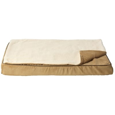 House of paws hondenkussen matras memory foam met topper beige
