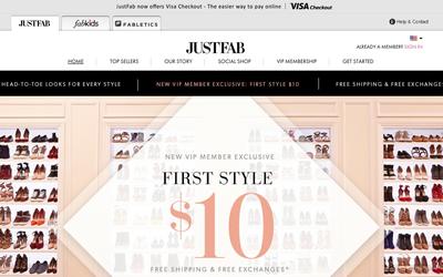 JustFab website