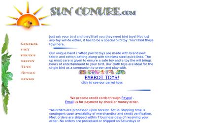 Sunconure.com/toys.html website