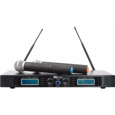 PD732H 2x 16-Kanaals UHF Draadloos Microfoonsysteem True Diversity incl. 2 Microfoons