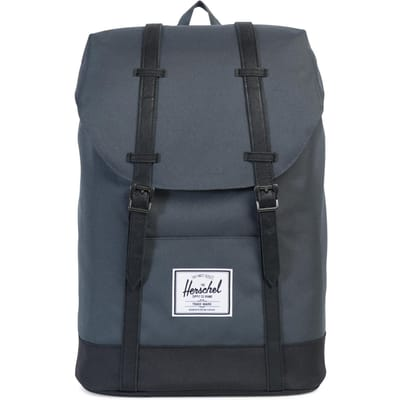 Herschel Retreat Dark Shadow Black