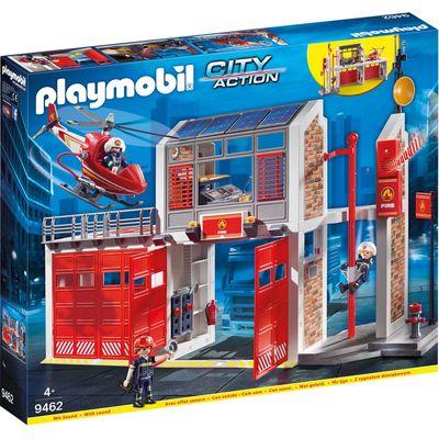 Playmobil 9462 grote brandweerkazerne met helicopter