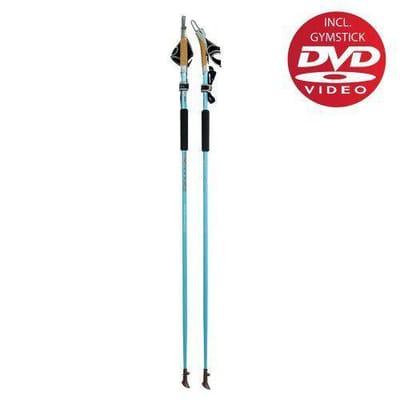 Gymstick Force Nordic Walking stokken met DVD 125 cm