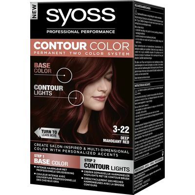 Syoss Contour Color Haarverf 3-22 Deep Mahony 50 ml
