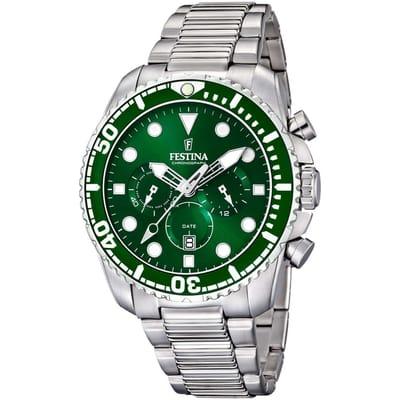 Festina horloge heren zilver edelstaal