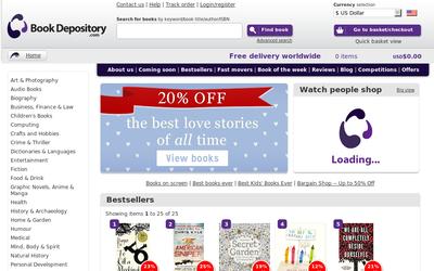 Book Depository website