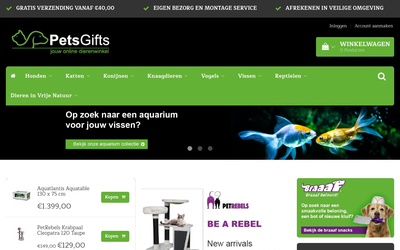 Pets Gifts website
