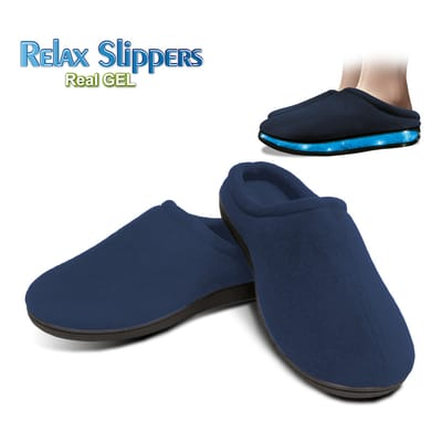 Relax Gel Slippers Blue Size S (36-38)