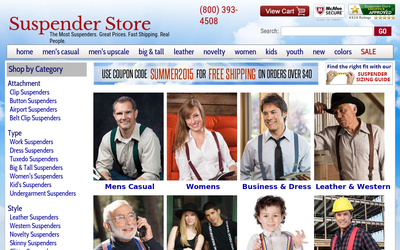 Suspenderstore.com website