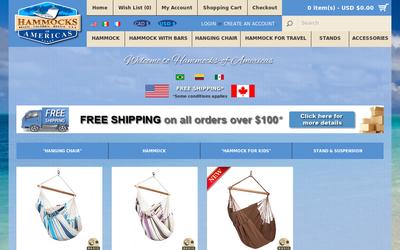 Hammocks-of-americas.com website