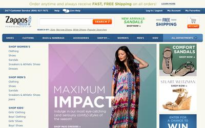 Zappos.com website