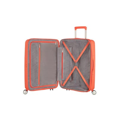 American Tourister Soundbox Spinner Exp Peach 77 koffer