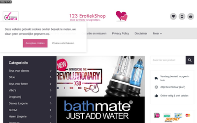 123Erotiekshop website