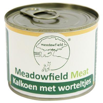 Meadowfield meat blik kalkoen worteltjes 200 gr