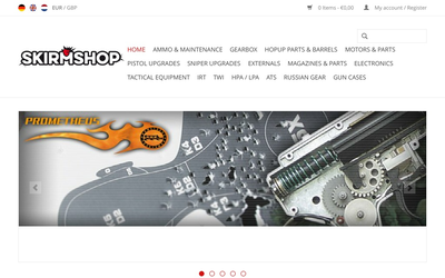 Skirmshop website