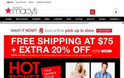 Macys.com website