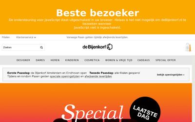 Bijenkorf website