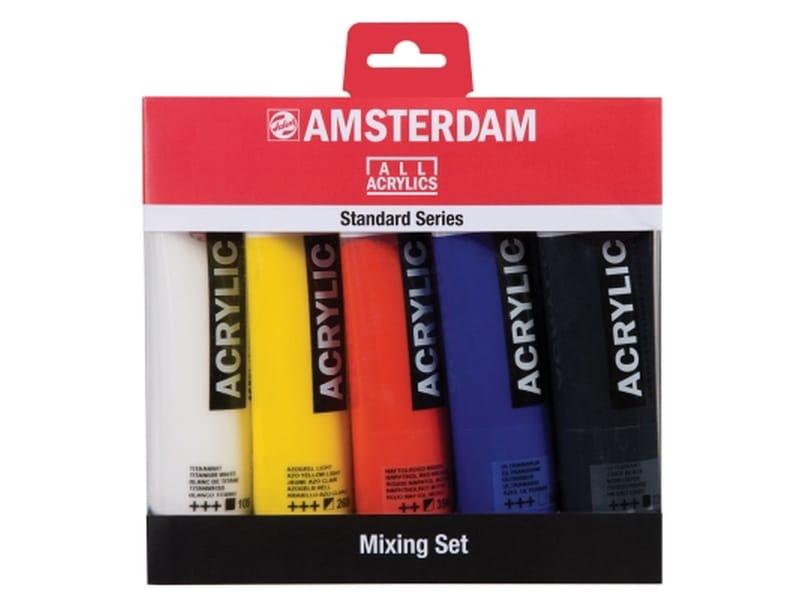 Amsterdam acrylverf 5 tubes 120 ml in