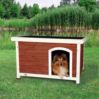 Trixie natura hondenhok classic met plat dak Wit