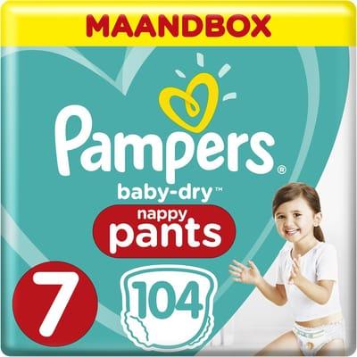 Pampers Luierbroekjes Maat 7 104 Stuks Baby Dry