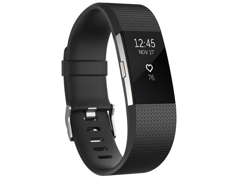 Fitbit Charge 2 - Black Silver - Large