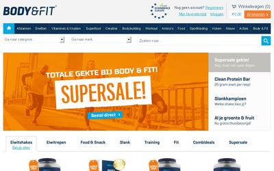 body & fitshop website