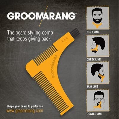 Groomarang Baard Shaping Styling Kam