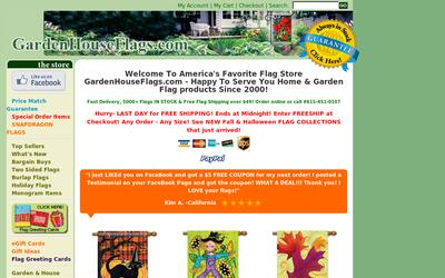 Garden House Flags website