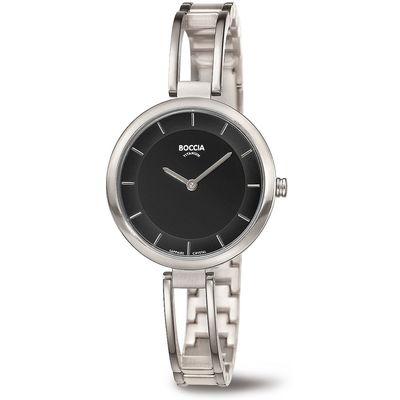 Boccia 3264-02 horloge dames - zilver - titanium