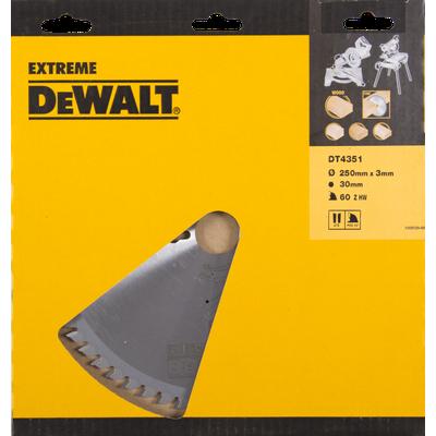 DeWalt DT4351 Cirkelzaagblad 60T 250 x 30