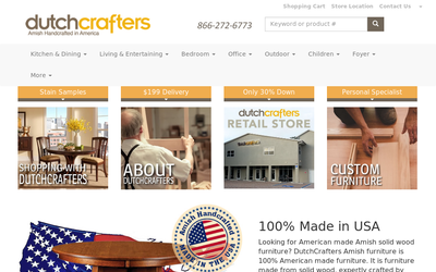 DutchCrafters Amish Furniture Store website