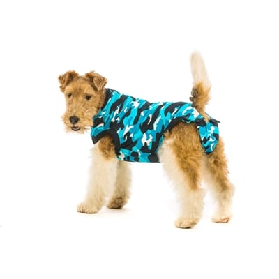 Suitical recovery suit hond blauw camouflage