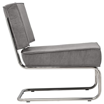 Zuiver Fauteuil Ridge Rib Lounge - Cool Grey