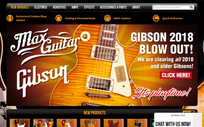 Maxguitarstore website