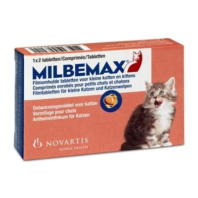 Milbemax tablet ontworming kleine kat/kitten