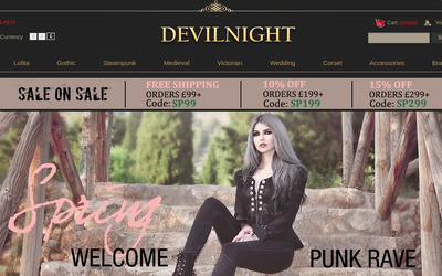 Devilnight.co.uk website